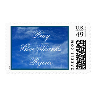Pray Give Thanks Rejoice Medium Postage
