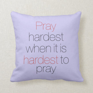 Pray Hard Pillow