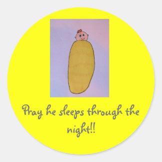 Pray he sleeps through the night!! Boy stickers