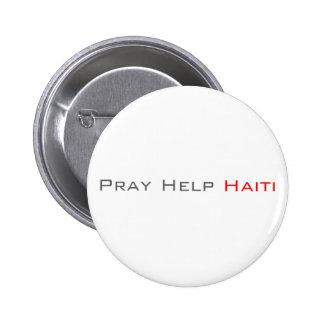 Pray Help Haiti Pinback Button