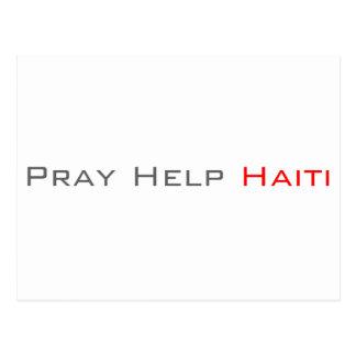 Pray Help Haiti Postcard