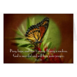 Pray Hope Don't Worry Greeting Card