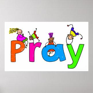 Pray Kids Poster