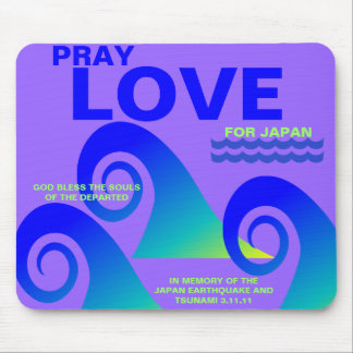 PRAY LOVE FOR JAPAN MOUSE PAD