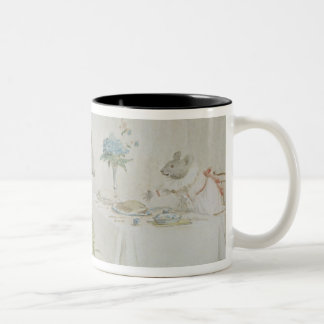 Pray, Miss Mouse, will you give us some beer' Two-Tone Coffee Mug