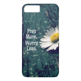 Pray More Worry Less Quote with Daisy iPhone 8 Plus/7 Plus Case
