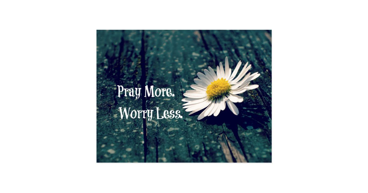 learn how to worry less