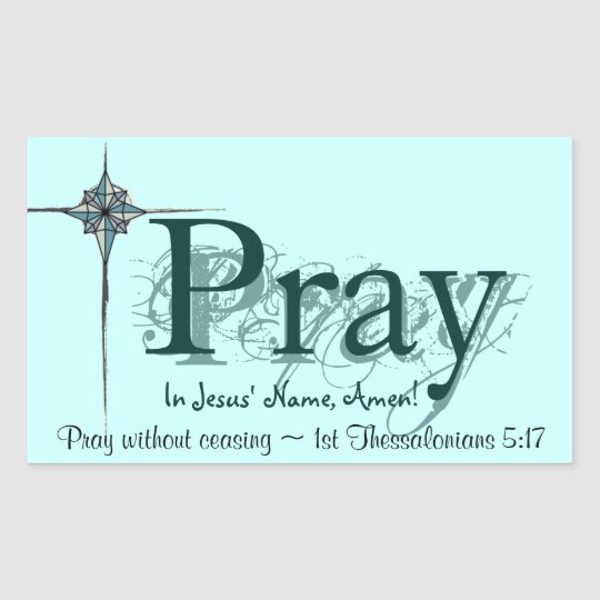 Pray Rectangular Sticker