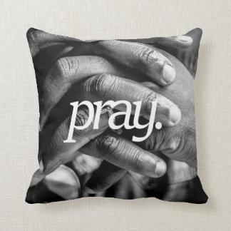pray. Religious Design 2 Side Print Throw Pillow