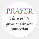 PRAY ROUND STICKER