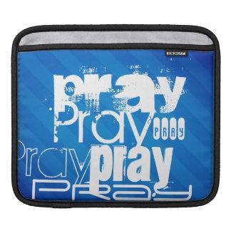 Pray; Royal Blue Stripes iPad Sleeve
