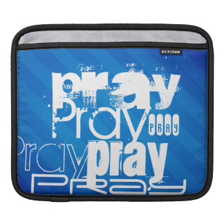 Pray; Royal Blue Stripes Sleeve For iPads