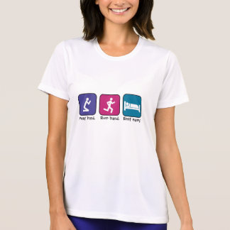 Pray, run, rest-ladies tee shirts