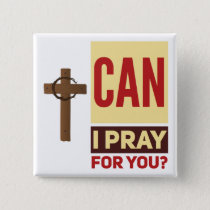 Pray  Square Button