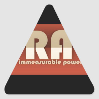 Pray There's Immeasurable Power In It Triangle Sticker