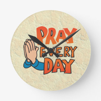Pray to Lord Every Day Clock