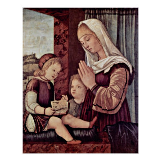 Pray to the Christ child by Vittore Carpaccio Poster