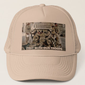 PRAY WITH OUR TROOPS TRUCKER HAT
