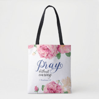 Pray Without Ceasing All Over Print Bag