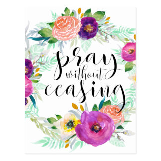 Pray Without Ceasing Postcard