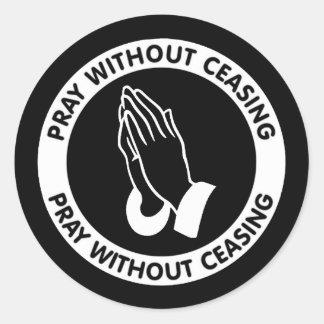 PRAY WITHOUT CEASING ROUND STICKER