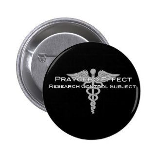 Praycebo Effect Research Control Subject - Dark 2 Inch Round Button