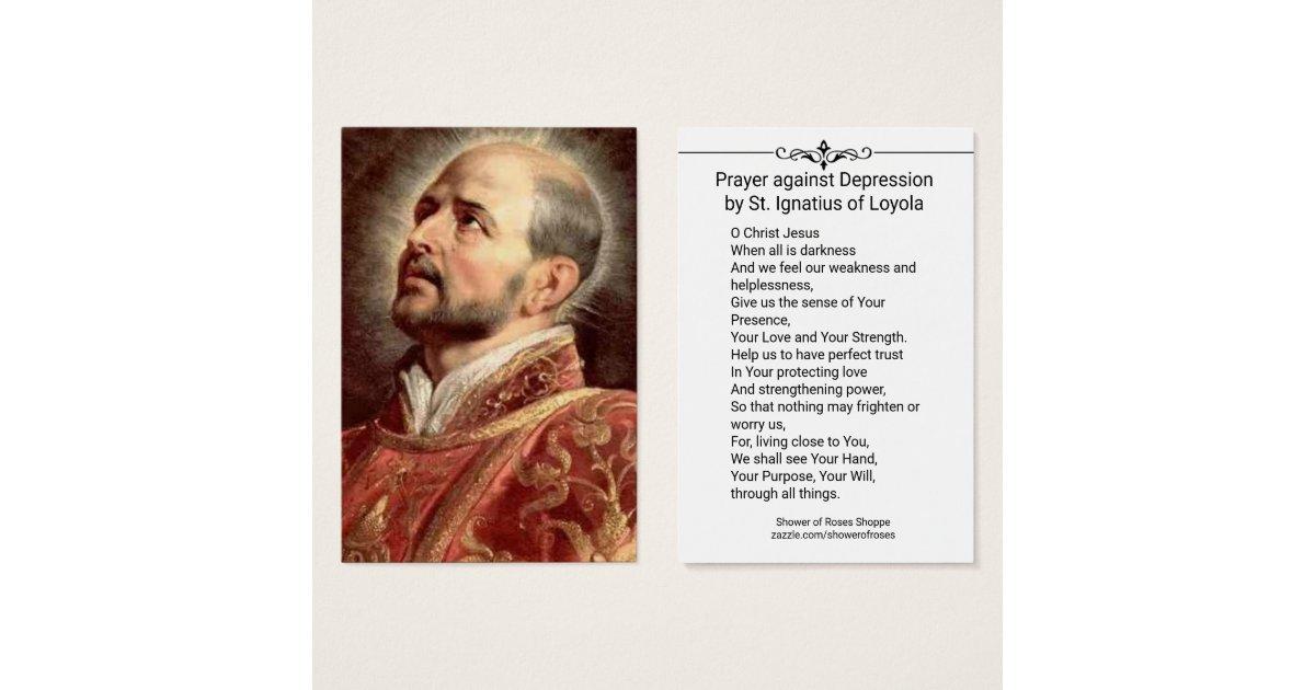 Prayer against Depression St. Ignatius Loyola | Zazzle.com