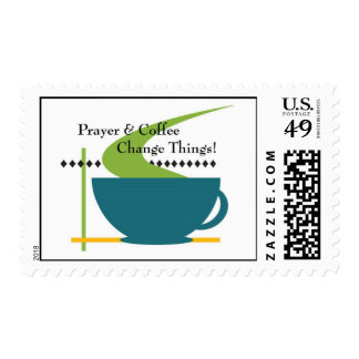 Prayer and Coffee Stamp