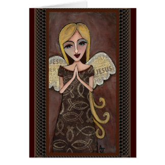 Prayer Angel - angelic greeting card