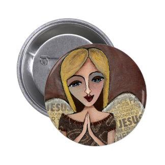 Prayer Angel - button