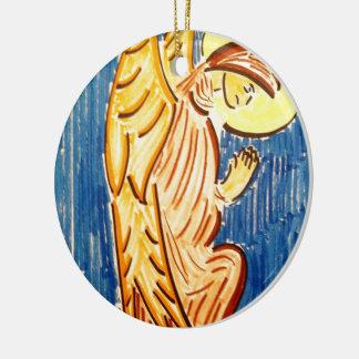 Prayer Angel Ceramic Ornament