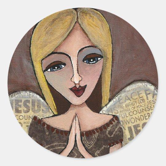 Prayer Angel - sticker