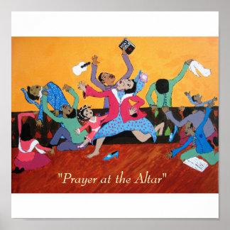 """Prayer at the Altar"" Poster"