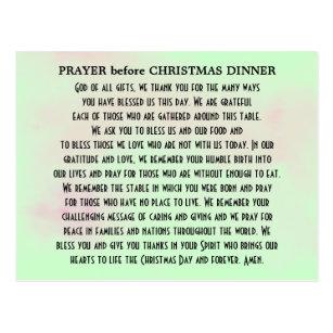 Christmas Dinner Prayer.Prayer For Dinner Cards Zazzle