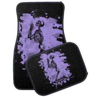 Prayer - bleached violet car mat