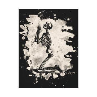 Prayer - bleached white canvas print