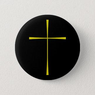 Prayer Book Cross Gold Button