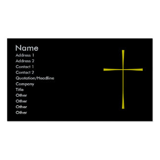 Prayer Book Cross Gold Double-Sided Standard Business Cards (Pack Of 100)