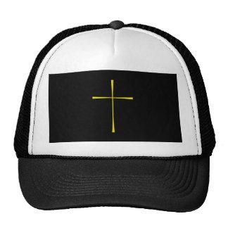 Prayer Book Cross Gold Trucker Hats