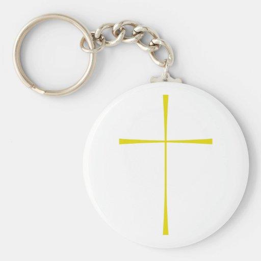 Prayer Book Cross Gold Key Chain