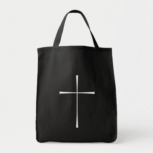 Prayer Book Cross White Bags