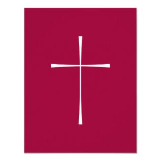 Prayer Book Cross White Card