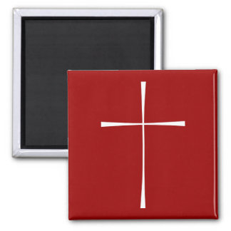 Prayer Book Cross White Magnet