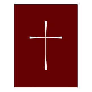 Prayer Book Cross White Post Card