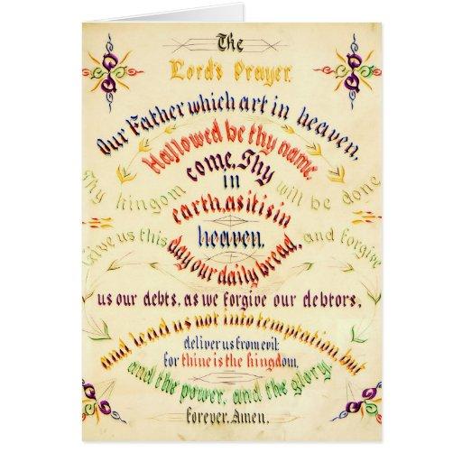 Prayer Calligraphy 1889 de señor Tarjeta De Felicitación