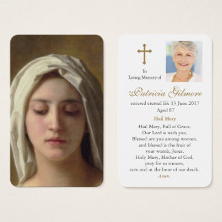 Prayer Card Funeral | Charity
