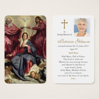 Prayer Card Funeral | Coronation of the Virgin