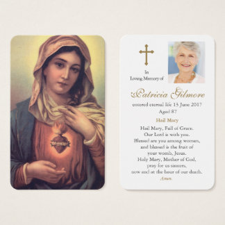 Prayer Card Funeral | Heart of Mary 1