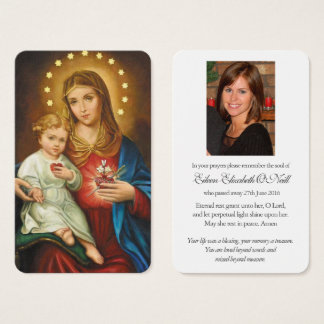 Prayer Card Funeral | Immaculate Heart of Mary 1
