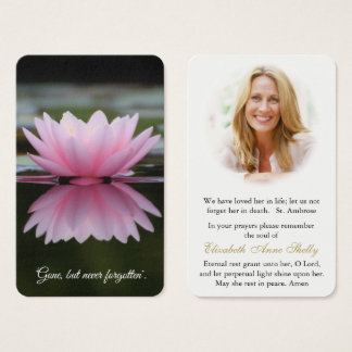Prayer Card Funeral | Lily Pond